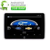 1080 четырехъядерный Android 6,0 HD 10,1 P сенсорный экран автомобильный подголовник монитор HDMI USB/SD/FM Поддержка видео игры wifi заднего сиденья подголо