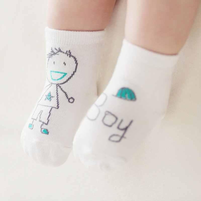 0-3Year bebé calcetines bebé niño chico chica impreso de dibujos animados calcetín suave antideslizante Calcetines de algodón SK08