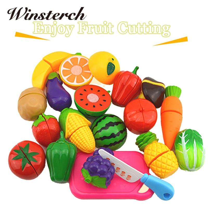 2018 New Preschool Children ABS Plastic Food Fruit ...