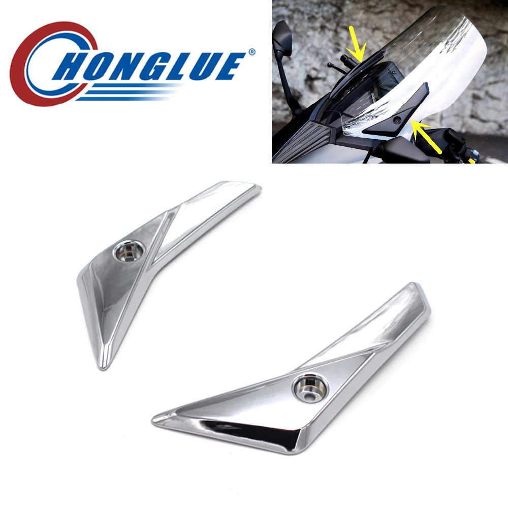 honglue For YAMAHA TMAX530 motorcycles scooter modified Plating Front windshield fixing cover Front windshield cover