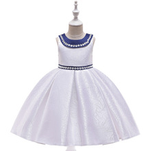 New Kids Girls Wedding Dress Children Formal Clothes Evening Prom 4 6 8 10 Years Princess for Host