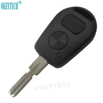 OkeyTech Replacement Car Remote Key Shell for BMW E38 E39 E36 Z3 Uncut HU58 Blanks Blade 2 Buttons Keyless Entry Auto FOB Case image