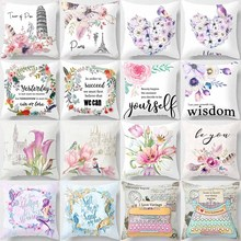 Hot sale  different styles kinds of flowers beauty creative picture Pillow case boys girls weeping pillow cover size 45*45cm