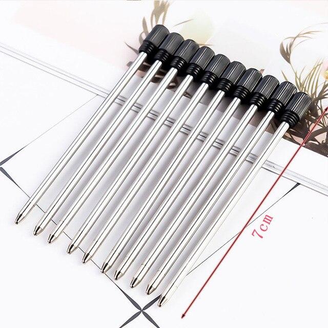 30pcs/lot Diamond Crystal Metal Refills 0.7mm Special Refills for Roller Ball Pen Ballpoint Pen 7CM Length Office School Supply 2