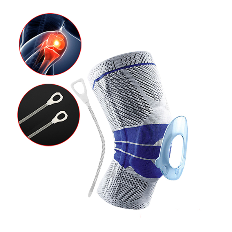 Prix pour Nylon Gris Élastique Support Genou Support Genouillère Réglable Rotule Genou Pad Basket-Ball Épaule Sangle De Sécurité De Protection Bande