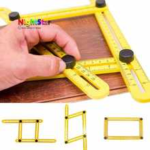 Four Sided Ruler Measuring Instrument Template Angle Tool Mechanism Slides