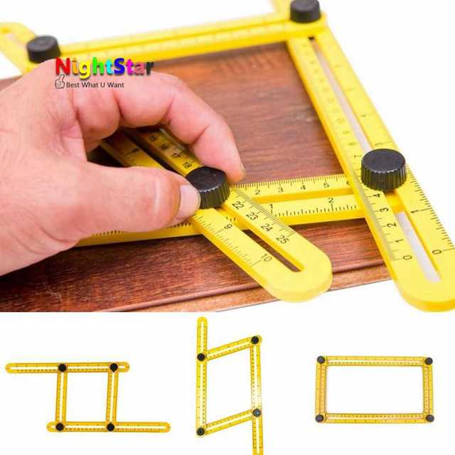 Measuring Instrument Template Angle-izer Tool Mechanism Slides Four-Sided Ruler