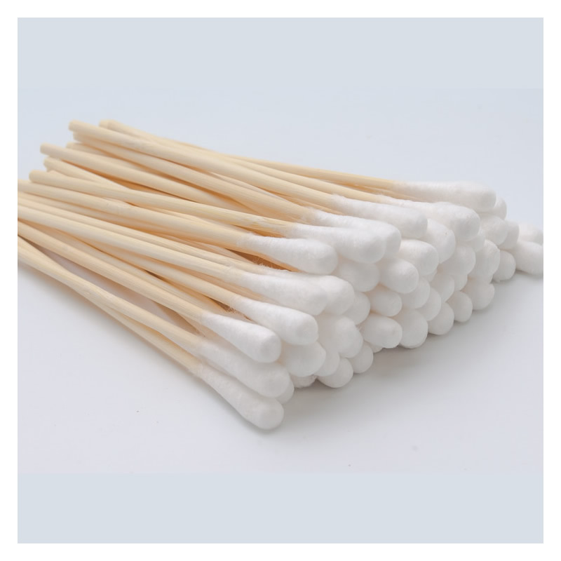 20-100-200pcs 10cm Disposable Cotton Swab Sealed Sterile Packing Wound Disinfection Cotton Stick For Outdoor Home Personal Use