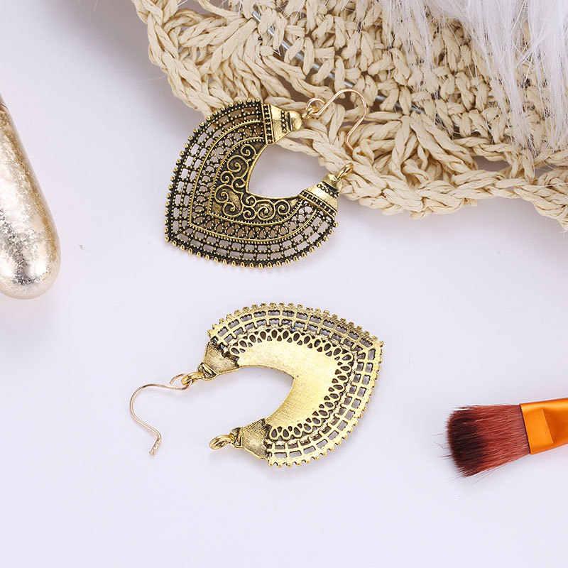 Индийские ювелирные изделия металлические Винтажные серьги-кисточки 2019 Мода Boho античные этнические серьги-капли для женщин Pendientes