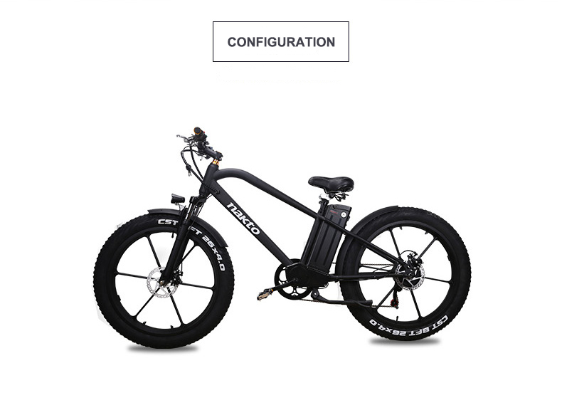 Powerful Electric Scooter Two Wheel Electric Bicycle 26 Inch