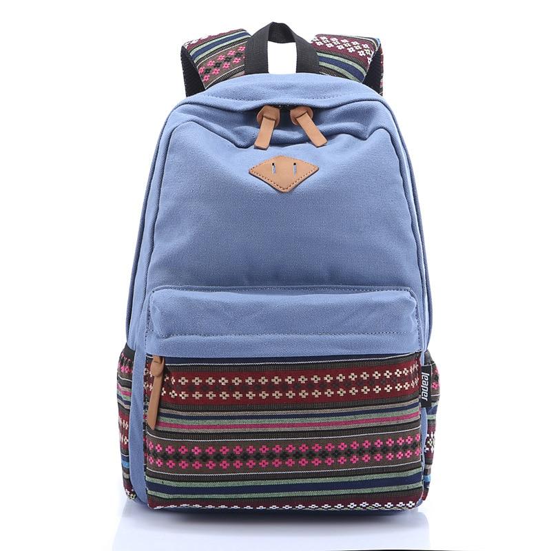 ФОТО Bestselling 2016 Women Stripped Backpack School Student Bags 7 Colors Unisex Backpacks Bolsas Wholesale