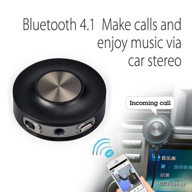 Avantree Bluetooth Kit de Coche y el Receptor Bluetooth A2DP para el streaming de música y llamadas Manos Libres Estéreo Del Coche sin batería CaraBasic