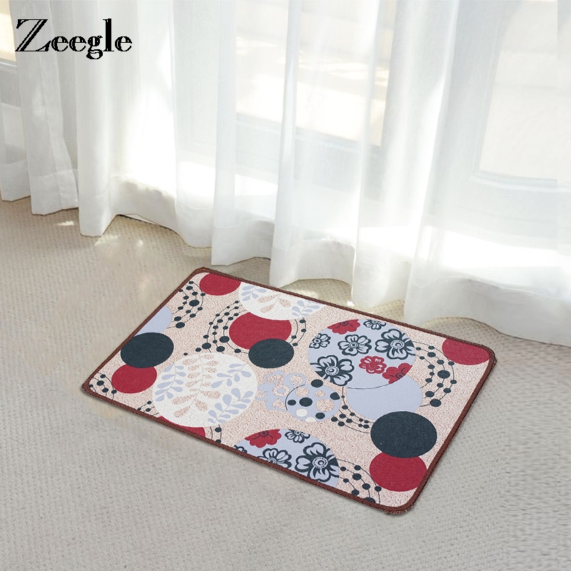 Zeegle Welcome Door Mat Absorbent Kitchen Rugs Bedroom Carpets Decorative Stair Mats Home Decor Corridor Rug