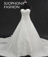 Romantic Wedding dress 2018 Sweetheart A-Line Lace Appliques Vestido de noiva Plus size Wedding dress Casamento robe de mariee