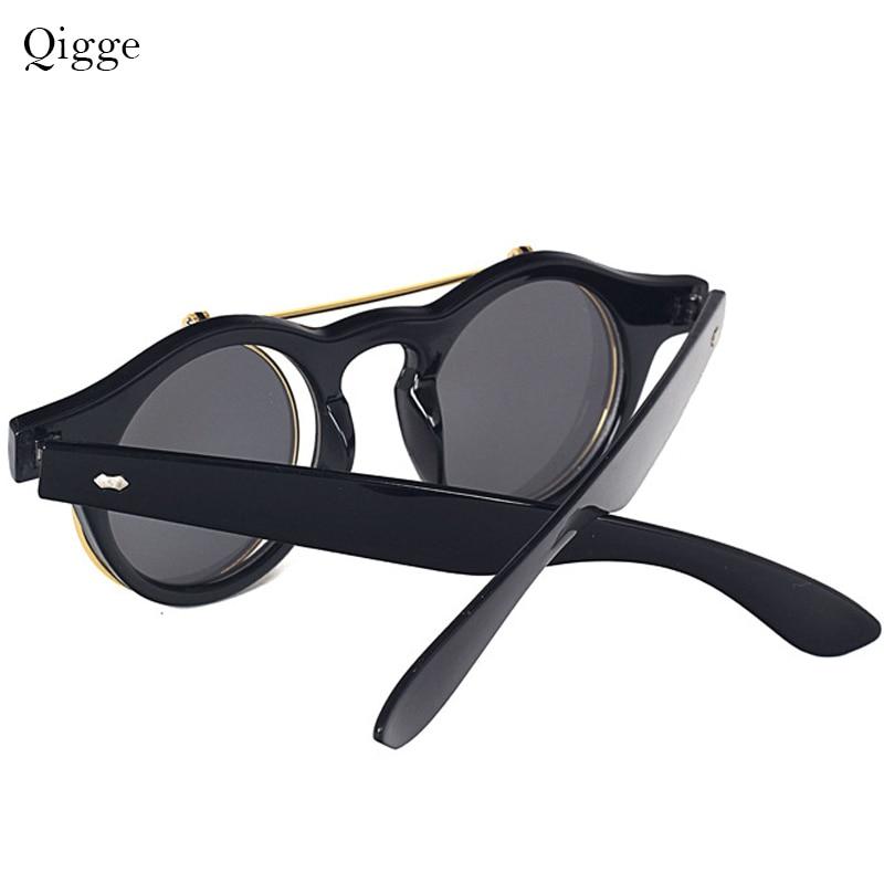 Qigge Fashion Vintage Putaran Retro SteamPunk Sunglasses Klasik - Aksesori pakaian - Foto 4