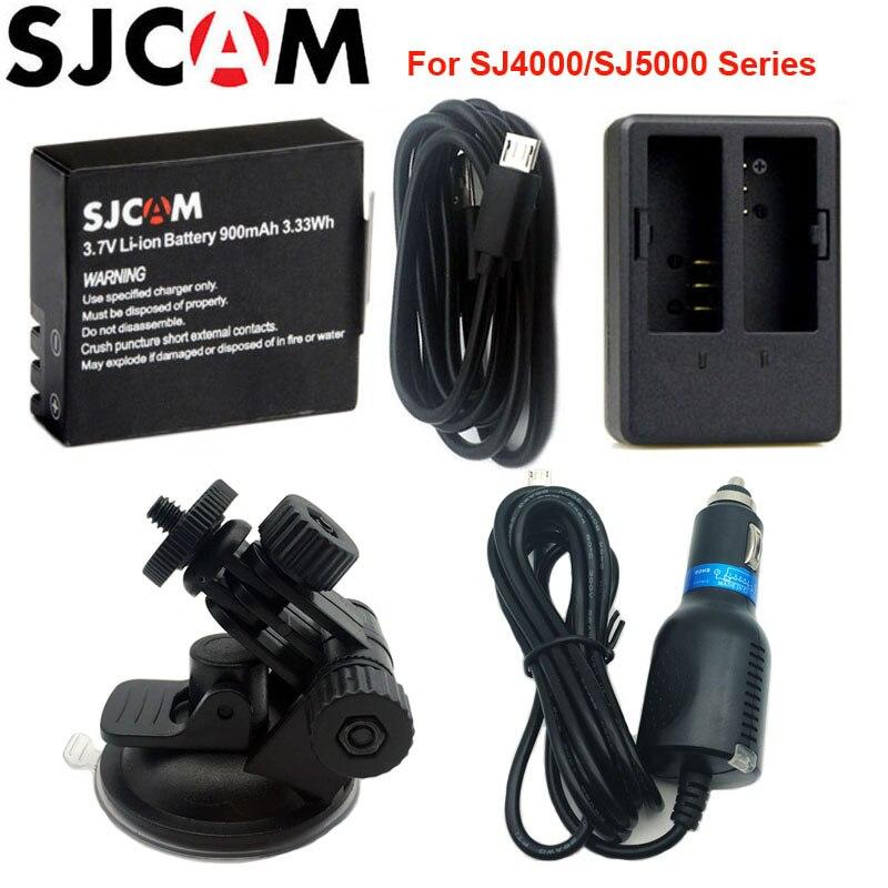 Sjcam 3.7 V li-ion 900 mAh batería recargable de reserva cargador de coche para sjcam SJ4000 SJ5000 SJ5000X Elite M10 WiFi acción cámara