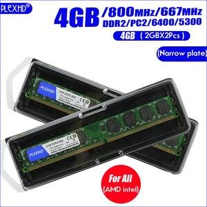 Memoria RAM per PC Desktop PLEXHD modulo Memoria DDR2 800 PC2 6400 4GB(2 pezzi * 2GB) compatibile DDR2 800MHz / 667MHz(China)