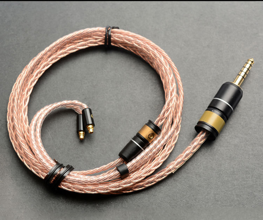Hand Made DIY Copper Silver Silver 4.4M Balanced Plug 8 Cores Hifi Updated Cable For Astell&Kerns ONKYO OPUS DAP Sony NW-WM1Z