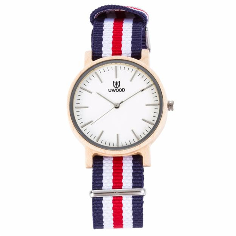 Mens Maple Watch Nylon Band Casual Classic Watch With Multi