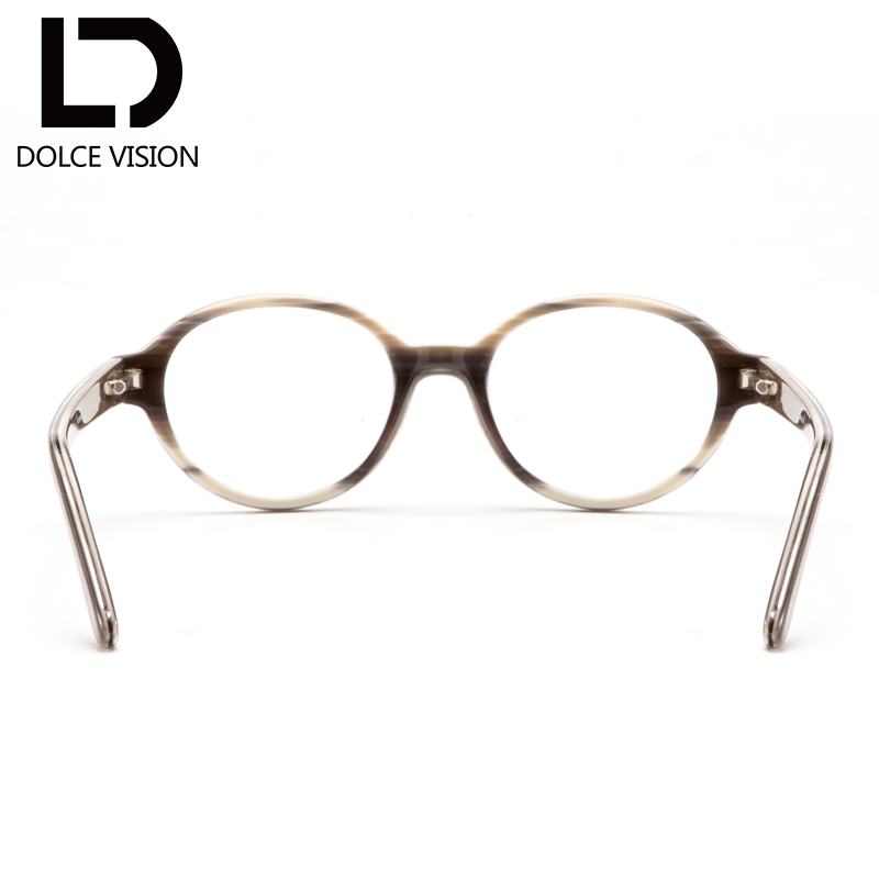 a582cd06be DOLCE VISION Retro Prescription Glasses Men Rivet Degree Spectacles  Photochromic Round Graduated Glasses 1.67 Index Eyeglasses-in Prescription  Glasses from ...