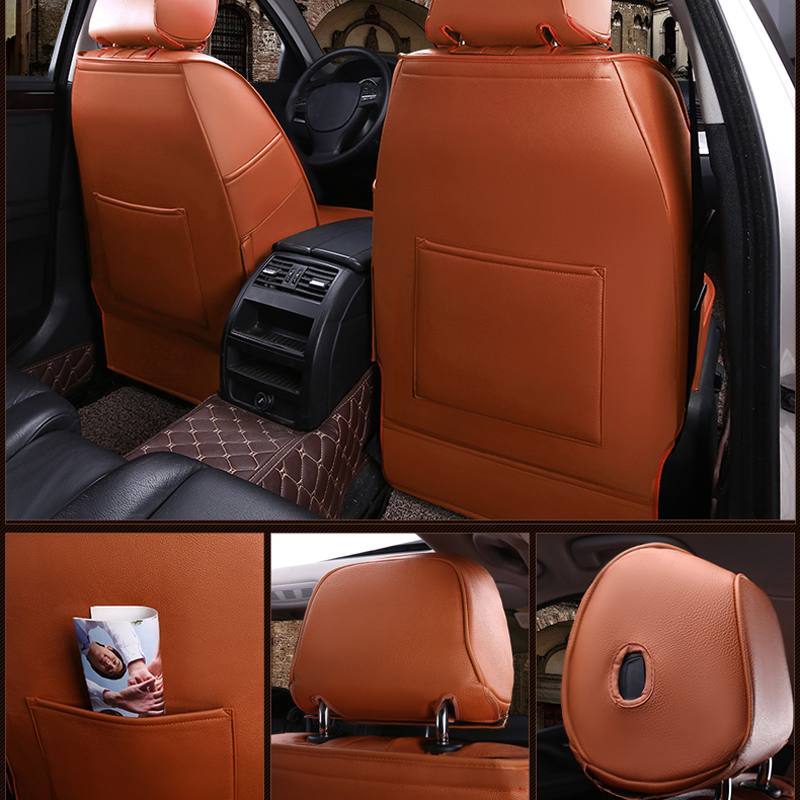 AutoDecorun Genuine Leather Automobiles Covers Seat for Infiniti qx50 2015 Seat Cover Accessories Car Seat Cushion Support 16PCS