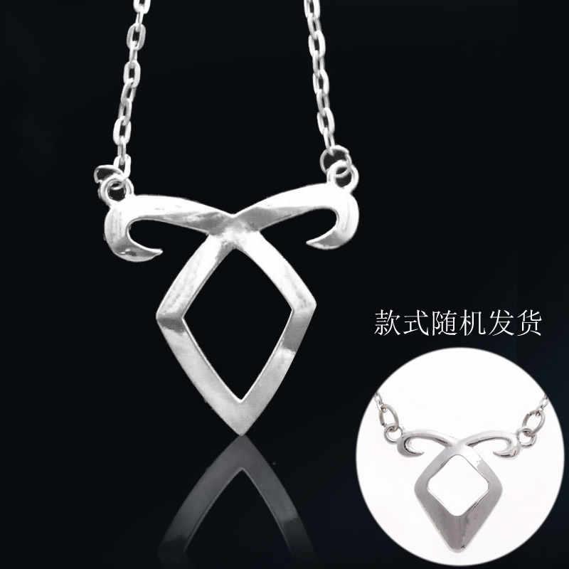 The Mortal Instruments City of Bones Angelic Power Rune Pendant Necklace Silver