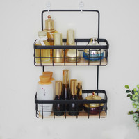 A1 Iron wall hanging basket sundries storage basket kitchen condiment storage rack metal hanging basket wx11161902
