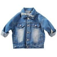 1 5Yrs Baby Boys Girls Hole Denim Jackets Coats New 2017 Fashion Spring Autumn Children Outwear