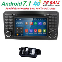 7 2 Din Car AutoRadio GPS Android 7 1 Car DVD Player For Mercedes Benz ML