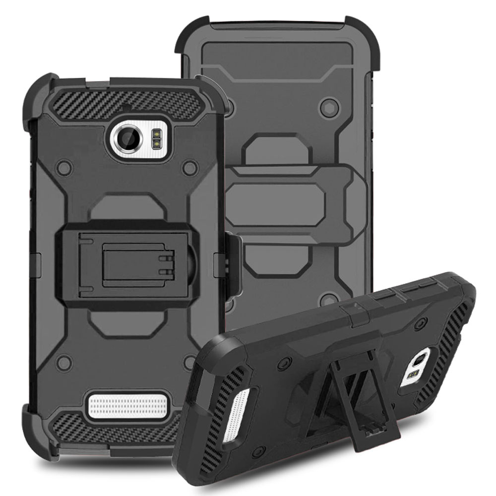For CoolPad Defiant 3632 Shockproof Heavy Duty Hybrid Armor Case With Belt Clip Holster Impact Drop Protection Tough Shell Cover