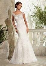 Fancy Newly Designed Sheath Wedding Dresses Scoop Neck Cap Sleeve Custom Made Sexy See Through Back Lace Bridal Dress 2015 velvet tie back cap sleeve sheath dress