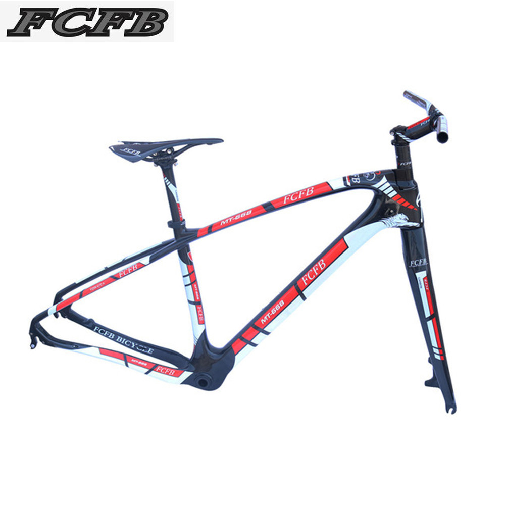 2017 FCFB T800 carbon mtb frame 27.5 29er mtb carbon frame carbon mountain bike frame 135*9mm MT668 3k glossy bicycle frame 2017 new cheap carbon frame t800 3k full carbon mtb frame 29er for thru axle carbon mountain bikes frame 29 free shipping