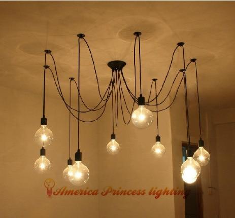 Tiannvsanhua lampă de păianjen lung candelabru personalitate - Iluminatul interior