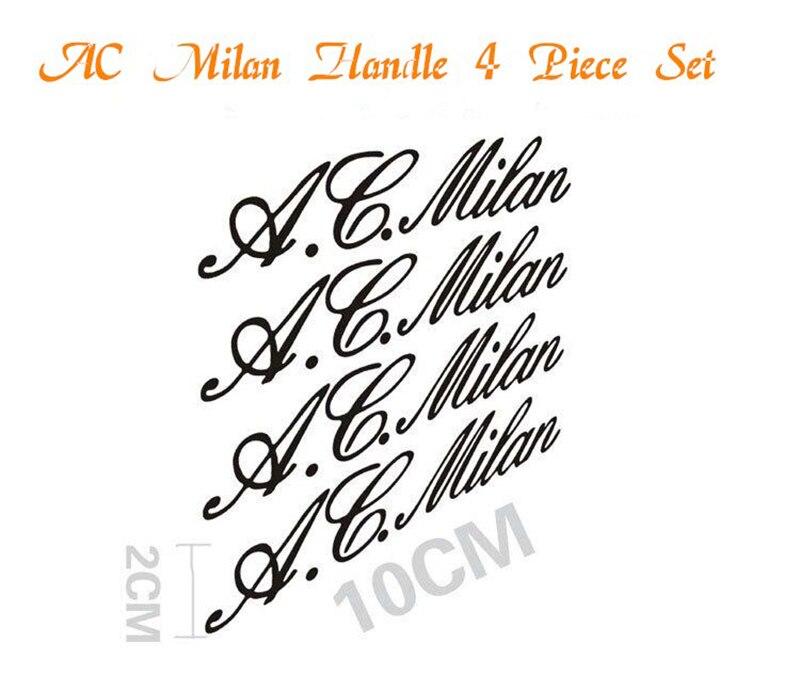AUBEU 4pcs AC Milan Car Handle Stickers auto Decal For