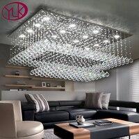 Youlaike Modern Crystal Chandelier For Ceiling Large Living Room Flush Mount LED Lighting Fixture Crystals Home