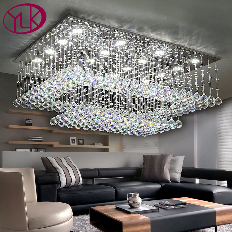 Youlaike Modern Crystal Chandelier For Ceiling Large Living Room Flush Mount LED Lighting Fixture Crystals Home Cristal Lamps free shipping chinese style ceiling lamps designers glass flush mount lighting fixture for living room bedroom