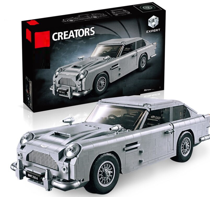 Technic Series 10262 Aston Martin DB5 Set Building Blocks Bricks Children Car Model Gifts Toys Compatible