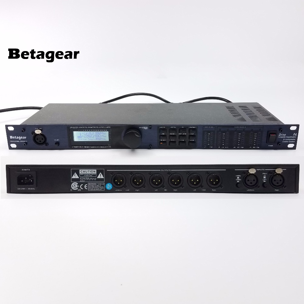 Betagear Drive Rack PA Equalization & Loudspeaker Control System Rack-Mount PA Studio effects processors 2input 6output