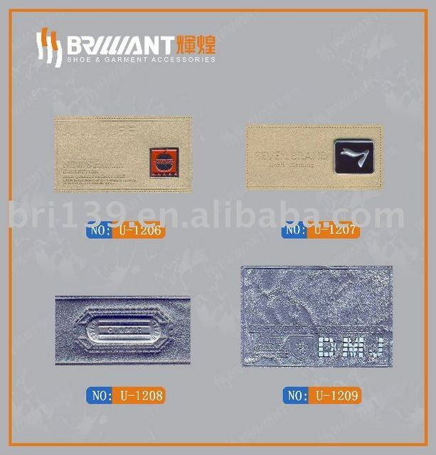 100% pu synthetic leather label