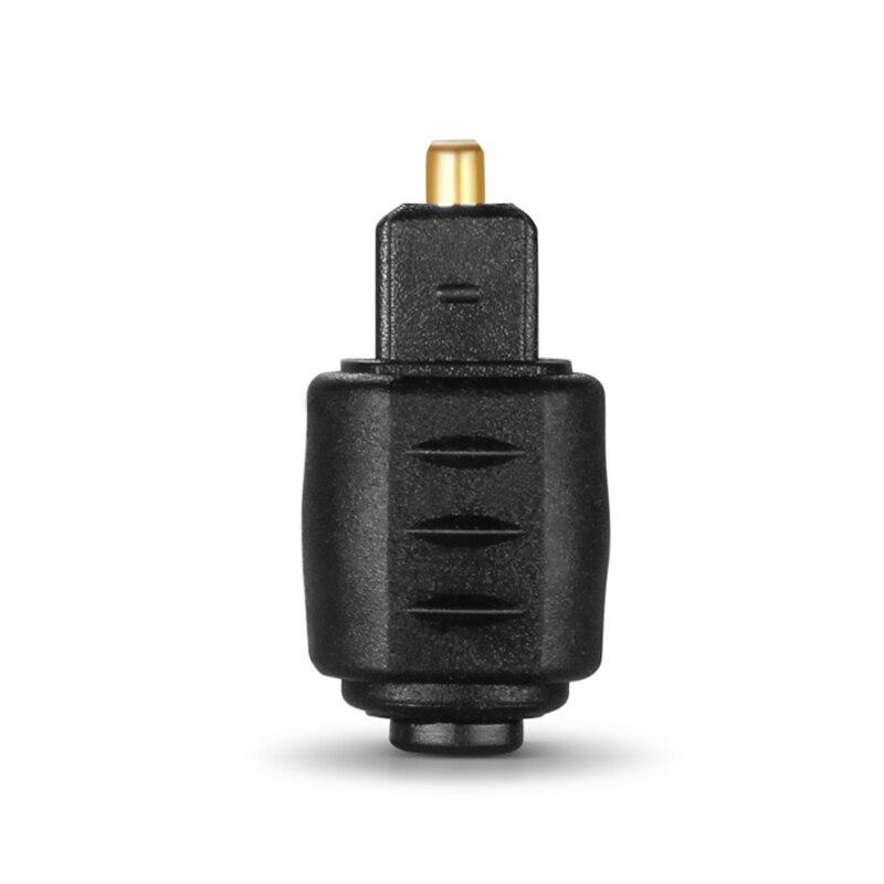Preto 3.5mm mini jack toslink fêmea ótico para masculino quadrado digital toslink plug conversor adaptador para amplificador leitor dvd tv