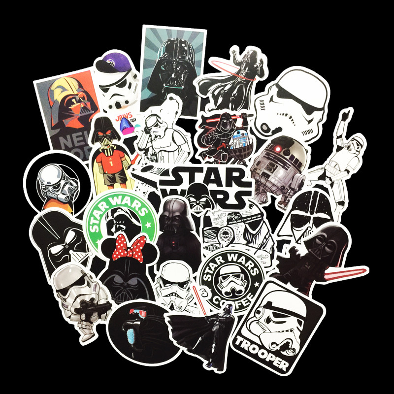 25 Kinds Star War Waterproof Fuel Cap Creative Sticker For Skateboard Laptop Luggage Phone Styling Home Toy Stationery Sticker