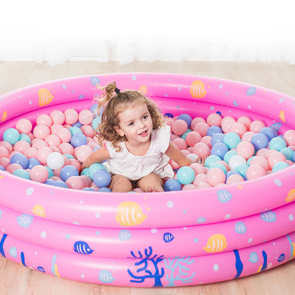 Inflatable Swimming <font><b>Pool</b></font> For Children Blue Dry <font><b>Pool</b></font> Bathing Kids Outdoor Swimming Mat Baby Crocks Portable <font><b>Water</b></font> Play Piscina image