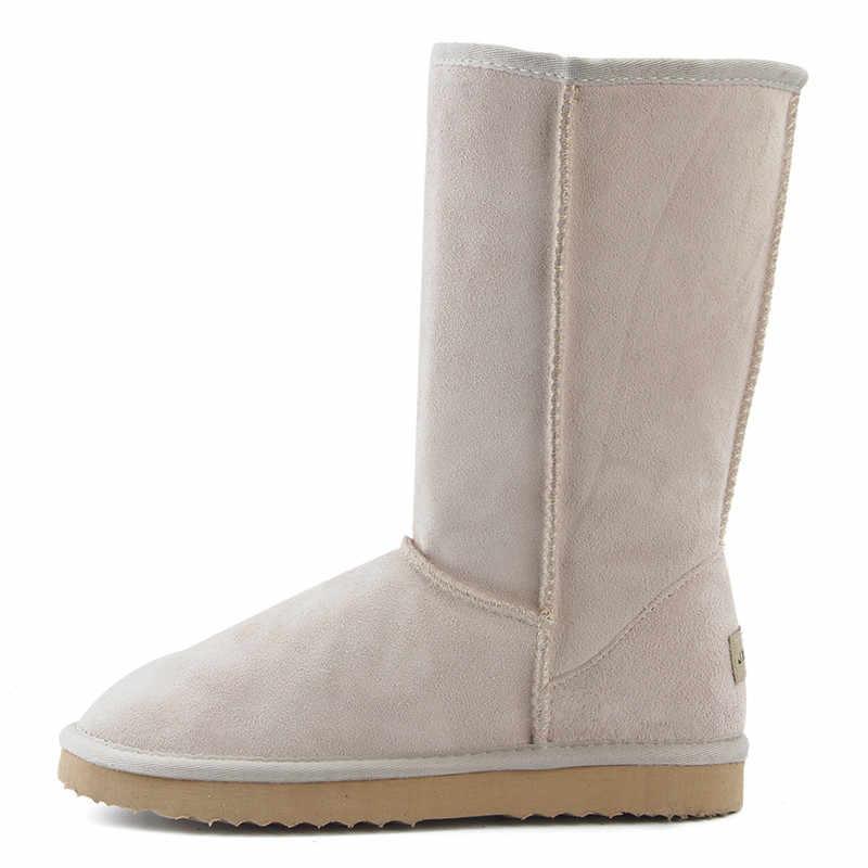 JXANG คุณภาพสูง Snow BOOTS ผู้หญิงแฟชั่นของแท้หนังออสเตรเลียคลาสสิกสตรี BOOT ฤดูหนาวผู้หญิงหิมะรองเท้า
