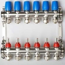 2-9 способ DN25 бытовой из нержавеющей стали пол нагревательный коллектор отопления воды коллектор распределения воды
