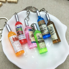 Pop Creative Couple keychain car key ring pendant keychain phone connected to a mobile phone beer bottle Men Christmas Gift men s car creative quality pendant keychain