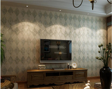 beibehang papel de parede Non-woven wall paper 3d solid village retro diamond lattice bedroom TV background wall 3d wallpaper