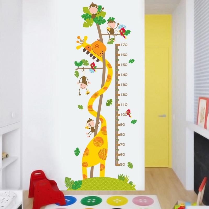 3d Vinyl Wallpaper Wall Decor Stickers Baby Height Measurement PVC Desktop Wallpaper Hd 3d Self Adhesive Wallpaper Room Decals in Wallpapers from Home Improvement