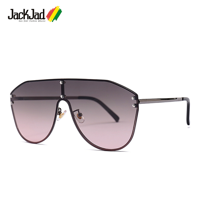 2647b9c70d5d7 JackJad 2019 Fashion Cool Shield Style Rivets Sunglasses Unisex Vintage  Gradient Brand Design Sun Glasses Oculos De Sol 20047