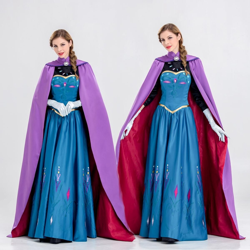 New Elsa Costume Adult Princess Elsa Dress Cosplay Halloween Costume For Women Cosplay Party Formal Dress Size 2XL