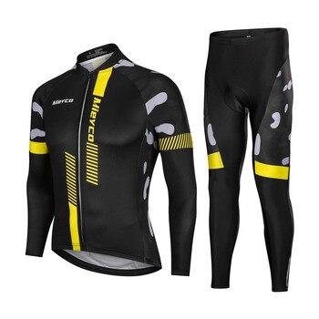 Pro 3D Acolchoado Sportswear dos homens Manga Comprida Ciclismo Jersey Respirável Montanha Da Bicicleta Da Bicicleta Vestuário Ciclo Roupas conjuntos